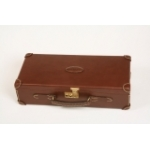 Guardian Leather Rigid Gun Case in Chestnut Brown