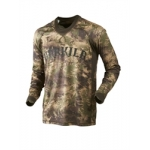 Harkila Lynx Long sleeve t shirt in AXIS MSP Forest Green Waffle jersey