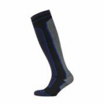 Sealskinz Mid Weight Knee Length socks - Black & Grey
