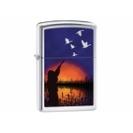 Zippo Night Shooting Scene - High Polish Chrome